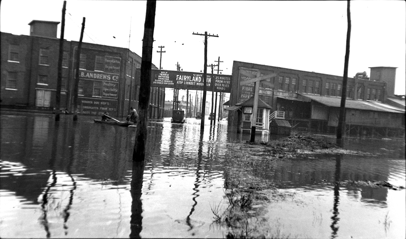 Flooded Downtown Streets