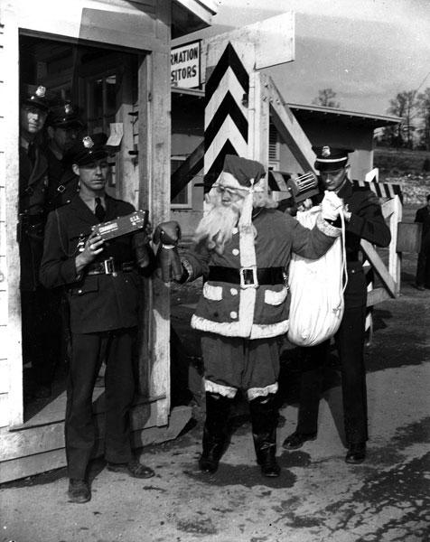 Santa At Check Point