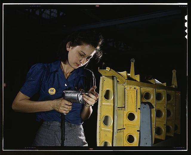 Woman Working on vultee