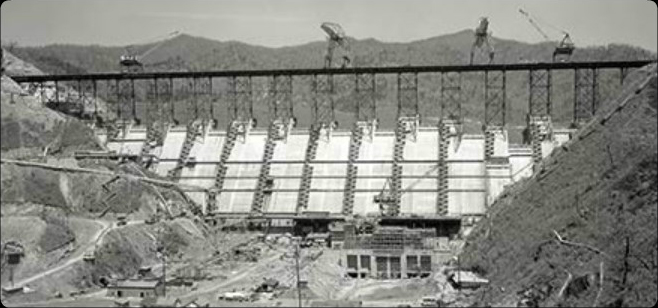 TVA Begins Construction on Fontana Dam